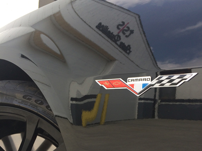New 5th Gen Camaro Heritage Cross Flags 376 Emblems
