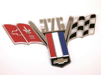 Custom Chevy Cross Flag Emblem